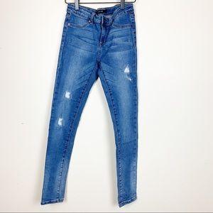 Joe's Jeans   Adjustable Waist Skinny Distressed